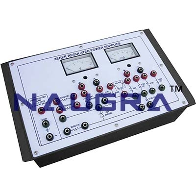 Zener Regulated Power Supplies Trainer for Vocational Training and Didactic Labs